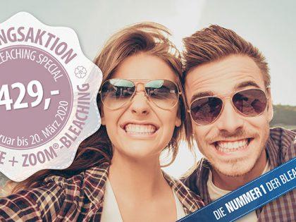 Frühlingsaktion: ZOOM®-Bleaching  + professionelle Zahnreinigung (PZR)